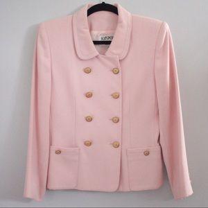 Baby pink vintage Kasper Petite blazer size 4P